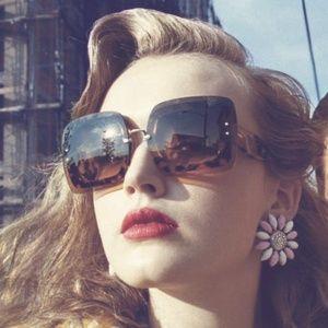 4f84720237cd Miu Miu Sunglasses Grey Black Tortoise Square